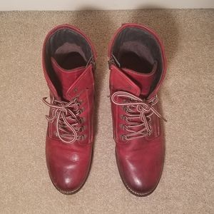 Taos Footwear Shoes - Taos Red Leather Boots